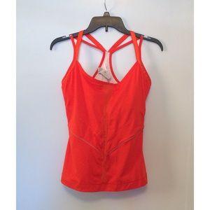 Adidas Stella McCartney Orange Athletic Tank Top